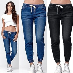 Women's jeans  for women jeans Women's pants Women's jeans High waist jeans Autumn Pencil Pants  Ccowboy Pants