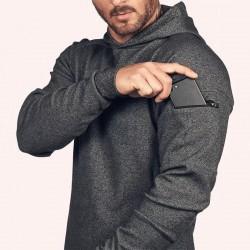ASRV Mens Loose Solid Color Hoodies Running Sports Pullover 2020 Autumn New Hooded Sweatshirt For Men Stranger Things Hoodie Man
