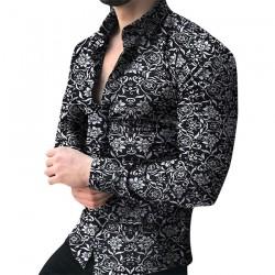 Men Shirt Long Sleeve Top 2019 Floral Male Blouse Casual Shirts Summer Autumn Shirts hawaiian Men Clothes camisa masculina