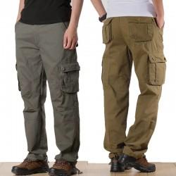 Men's Cargo Pants Mens Casual Multi Pockets Military Plus Size 44 Tactical Pants Men Outwear Cotton Straight Loose Long Trousers