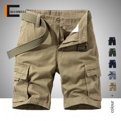 2020 Plus Size Summer Men Cargo Shorts Men's Cotton Multi Pocket Military Workout Shorts Male Street Casual Loose Short Pants