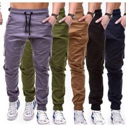 2019 nueva marca men pants straight leg de los hombres de algodon de corte Slim urbano pierna recta Casual pantalones de chandal