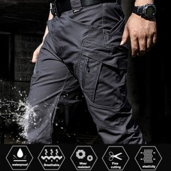 City Military Casual Cargo Pants Elastic Outdoor Army Trousers Men Slim Many Pockets Waterproof Wear Resistant Tactical Pants