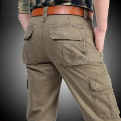 ICPANS Cargo Pants Men Multi-pockets Baggy Men Pants Military Casual Trousers Winter Autumn Army Pants Joggers PSize 40 42 44