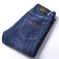 New Autumn Cotton Men's Jeans Slim Elastic Cute GC Brand Fashion Business Classic Trousers Style Winter Jeans Denim Pants