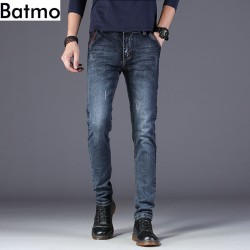 Batmo 2020 new arrival high quality casual slim elastic jeans men ,men's pencil pants ,skinny jeans men Z002
