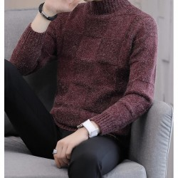 2020 high-quality men's semi-turtleneck sweater Autumn/winter new style thickened loose sweater Korean style personalized men's