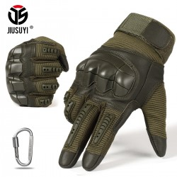 Full Finger Tactical Army Gloves Military Paintball Shooting Airsoft Combat PU Leather Touch Screen Rubber Protective Gloves