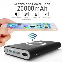 20000mAh Qi Wireless Charger Power Bank Portable External Battery Wirelss Charging Powerbank For Apple Samsung huawei Xiaomi