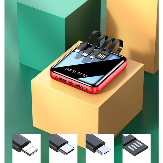 20000mAh Universal Portable Mini Power Bank For iPhone Samsung Note 8 S10 S9 S8 S7 Xiaomi Poverbank External Battery Powerbank