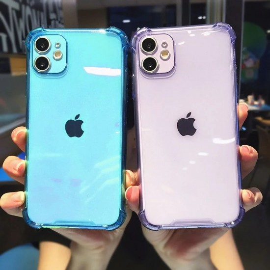 Lens Protection Silicone Case On For iPhone 11 12 Pro XR X XS Max 8 7 6 6s Plus Shockproof Transparent Cover For iPhone 12 Case