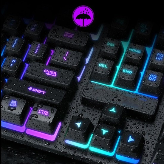 USB Wired Gaming Keyboard 104 Key Mechanical Feeling Gamer Keyboard for Computer M17F