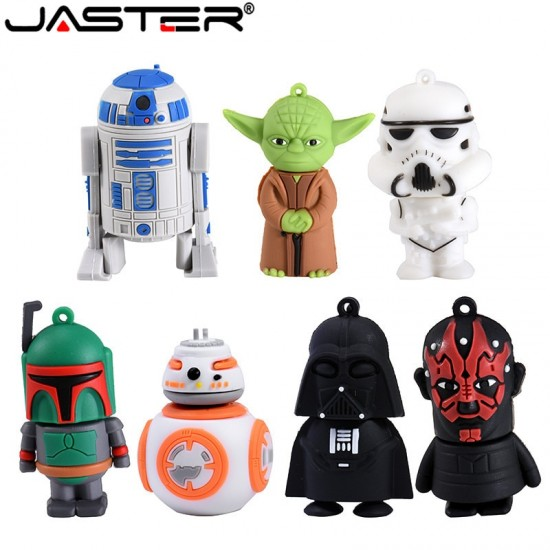 JASTER USB stick 10 model USB 2.0 star wars USB flash drive pen drive 4GB 8GB 16GB 32GB 64GB USB Stick cool gift