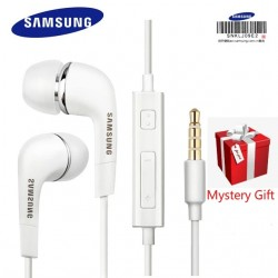 3.5mm Earphones For Samsung EHS64 With Mic Headset Headphone Built-in Microphone In Ear Wired Earphone For Smartphones Free Gift