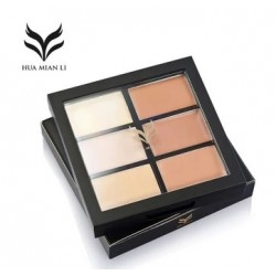 brand 6 color Natural Professional Concealer Palettes makeup Facial Face Cream Cosmetic make up cream contour powder wholesale