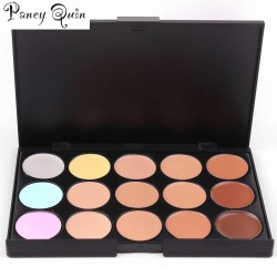 Concealer Palettes 15 Colors makeup Foundation Facial Face Cream Cosmetic contour palette  Full Coverage Flawless Makeup brush