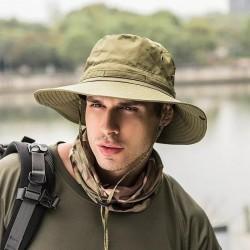 Unisex Women Men Fashion Casual Camping Hunting Fishing Hiking Outdoor Sport Sun Caps Wide Brim Hats Bucket Hat Boonies
