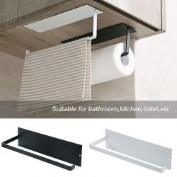 Kitchen Accessories Under Cabinet Paper Roll Rack Towel Holder Tissue Hanger Storage Rack Bathroom Toilet Organizer Shelf