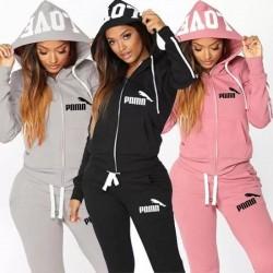 Autumen Two Piece Set Tracksuits Women Sets Love Print Hoodie Jacket Pants Sweatshirt Set Female Sports Suit for Women Clothing