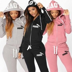 Autumen Two Piece Set Tracksuits Women Sets Love Print Hoodie Jacket Pants Sweatshirt Set Female Sports Suit for Women Clothing