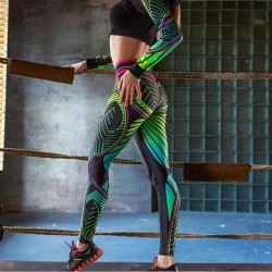 2020 Women Leggings Sexy High Waist Slim Printing Leggings Women's Fitness Leggings Sporting Pants Female Pencil Skinny Pants