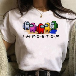 Maycaur New Game Among Us T Shirt Women Men Kawaii Cartoon Harajuku T-shirt Funny Impostor Graphic Tees Tops Unisex Tshirt Male
