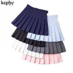 Women Skirt Fashion High Waist Pleated Skirt Sweet Cute Girls Dance Mini Skirt Cosplay Preppy Uniform School Short Skirts